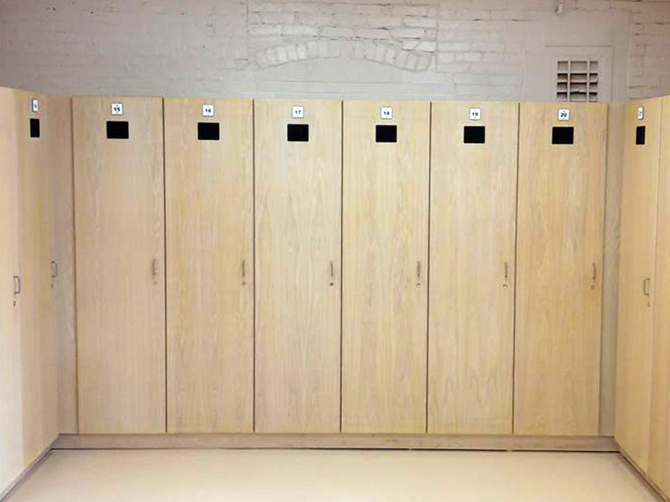 Custom Wooden Lockers
